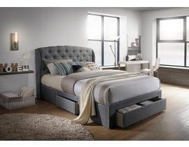 Hommax Emma Series Upholstered Queen Storage Bed in Grey Linen HM1017