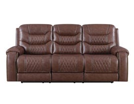 Klaussner Hubble Motion Reclining Sofa in Brown