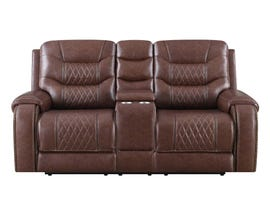 Klaussner Hubble Motion Reclining Loveseat in Brown