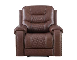 Klaussner Hubble Motion Recliner in Brown