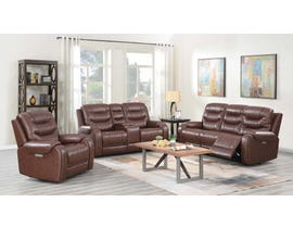 Klaussner Hubble 3PC Motion Reclining Sofa Set in Brown