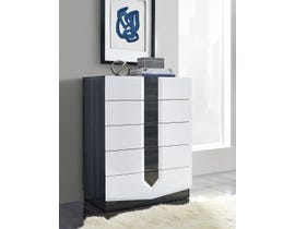 Global Furniture Hudson Chest Zebra Grey & White High Gloss