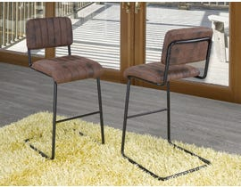 Brassex 26'' Counter Stool (Set of 2) in Brown HY-80013H-T-26-G