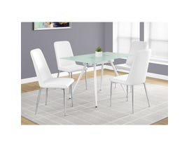 Monarch dining table white with tempered glass I1032