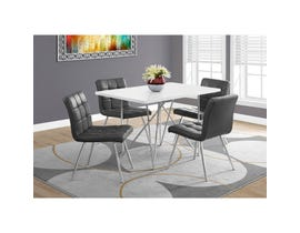 Monarch dining table white with chrome metal I1038 (Table Only)