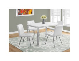 Monarch dining set in white with chrome metal I1041-I1071