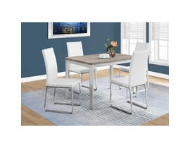 Monarch Dining Table with Chrome Metal in Dark Taupe I1042