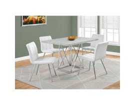 Monarch Dining Table with Chrome Metal in Cement Grey I1043
