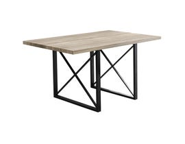 "MONARCH Dining Table - 36""X 60"" / DARK TAUPE / BLACK METAL I1100"