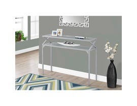 "MONARCH Accent Table- 42""L / SILVER METAL HALL CONSOLE"