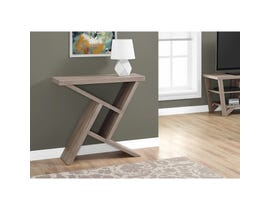 "MONARCH Accent Table- 36""L / DARK TAUPE HALL CONSOLE"