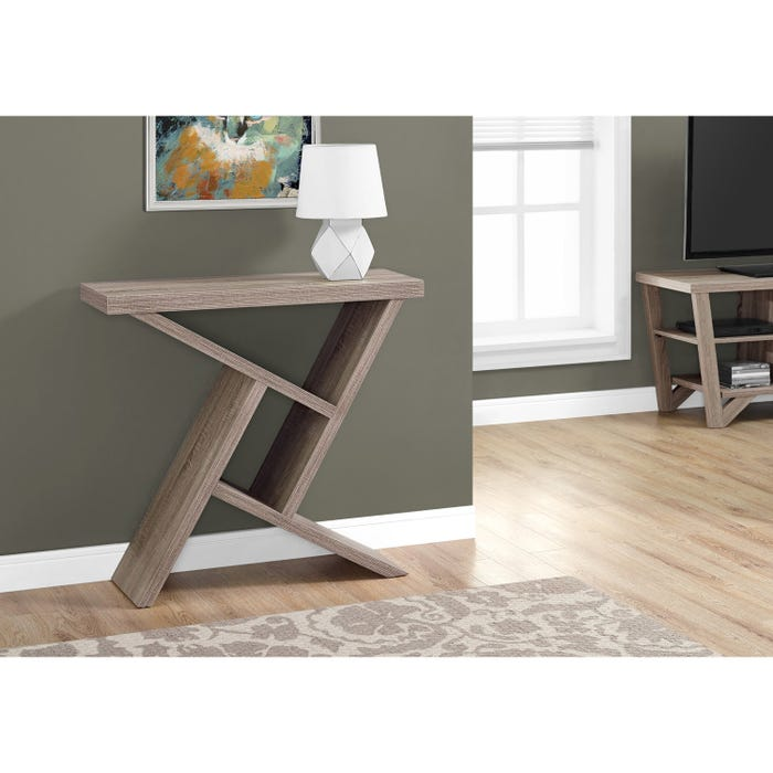 Remarkable Monarch Accent Table 36L Dark Taupe Hall Console Interior Design Ideas Inesswwsoteloinfo