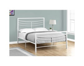 MONARCH Bed - FULL SIZE / WHITE METAL FRAME ONLY