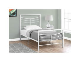 MONARCH Bed - TWIN SIZE / WHITE METAL FRAME ONLY