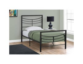 MONARCH Bed - TWIN SIZE / BLACK METAL FRAME ONLY