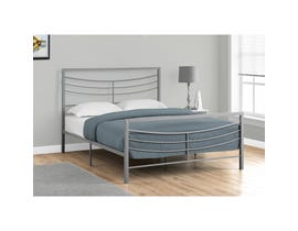 MONARCH Bed - QUEEN SIZE / SILVER METAL FRAME ONLY