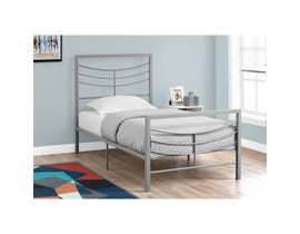 MONARCH Bed - TWIN SIZE / SILVER METAL FRAME ONLY