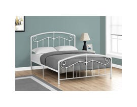 MONARCH Bed - QUEEN SIZE / WHITE METAL FRAME ONLY