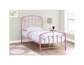 MONARCH Bed - TWIN SIZE / PINK METAL FRAME ONLY