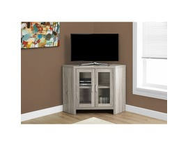 "MONARCH TV Stand - 42""L / DARK TAUPE CORNER WITH GLASS DOORS"