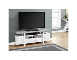 "MONARCH TV Stand - 60""L / WHITE / CEMENT-LOOK TOP"