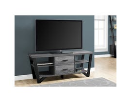 "MONARCH TV Stand - 60""L / GREY-BLACK WITH 2 STORAGE DRAWERS"