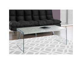 MONARCH Coffee Table - GREY CEMENT WITH TEMPERED GLASS