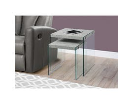 Monarch 2pc Nesting Table Set in Grey I3231