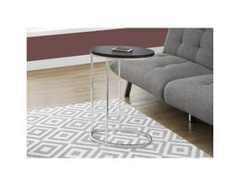 MONARCH Accent Table- OVAL / CAPPUCCINO WITH CHROME METAL