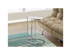 MONARCH Accent Table- OVAL / MIRROR WITH CHROME METAL