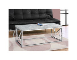 MONARCH Coffee Table - GREY CEMENT WITH CHROME METAL