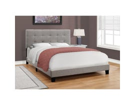 Monarch Linen Queen Size Bed in Grey