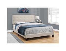 MONARCH Bed - QUEEN SIZE / BEIGE LINEN