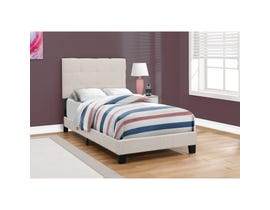 MONARCH Bed - TWIN SIZE / BEIGE LINEN