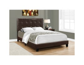 MONARCH Bed - FULL SIZE / DARK BROWN LEATHER-LOOK