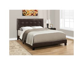 MONARCH Bed - QUEEN SIZE / DARK BROWN LEATHER-LOOK