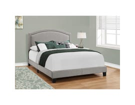 Monarch Bed in Grey Linen with Chrome Trim I5936