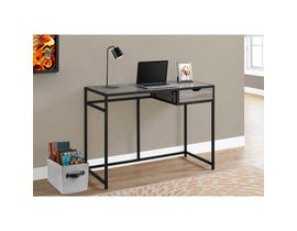 "MONARCH Computer Desk - 42""L / DARK TAUPE / BLACK METAL"