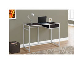 "MONARCH Computer Desk - 42""L / CAPPUCCINO / SILVER METAL"