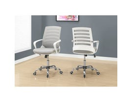 MONARCH Office Chair - WHITE / GREY MESH / MULTI POSITION I7225