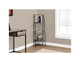 "MONARCH bookcase - 48""H / DARK TAUPE / BLACK METAL"