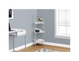 "MONARCH bookcase - 48""H / WHITE / SILVER METAL"
