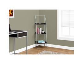 "MONARCH bookcase - 48""H / CAPPUCCINO / SILVER METAL"