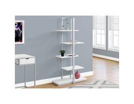"MONARCH bookcase - 60""H / WHITE / SILVER METAL"