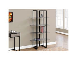 "MONARCH bookcase - 60""H / DARK TAUPE / BLACK METAL"