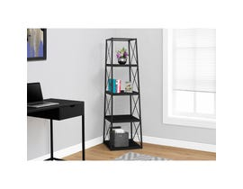 "MONARCH bookcase - 60""H / BLACK / BLACK METAL"