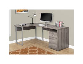 "MONARCH Computer Desk - 80""L / DARK TAUPE LEFT OR RIGHT FACING"