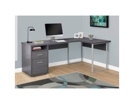 "MONARCH Computer Desk - 80""L / GREY LEFT OR RIGHT FACING"