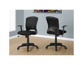MONARCH Office Chair - BLACK MESH MID-BACK / MULTI-POSITION