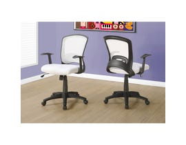 MONARCH Office Chair - WHITE MESH MID-BACK / MULTI-POSITION